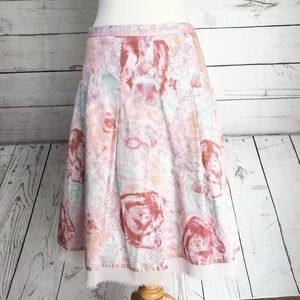 Odille Floral WaterColor A Line Skirt